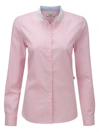 Women's Pink Oxford Cotton Stripe Shirt from Aigle