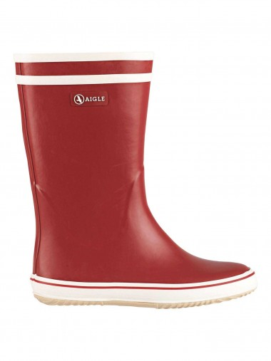 Aigle Malouine Welly Boot - Red