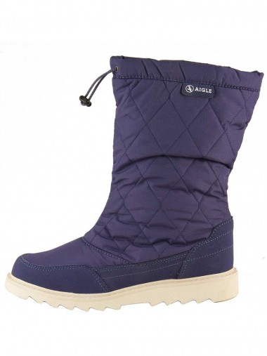 Aigle Dixy Quilted Snowboot - Artic Blue