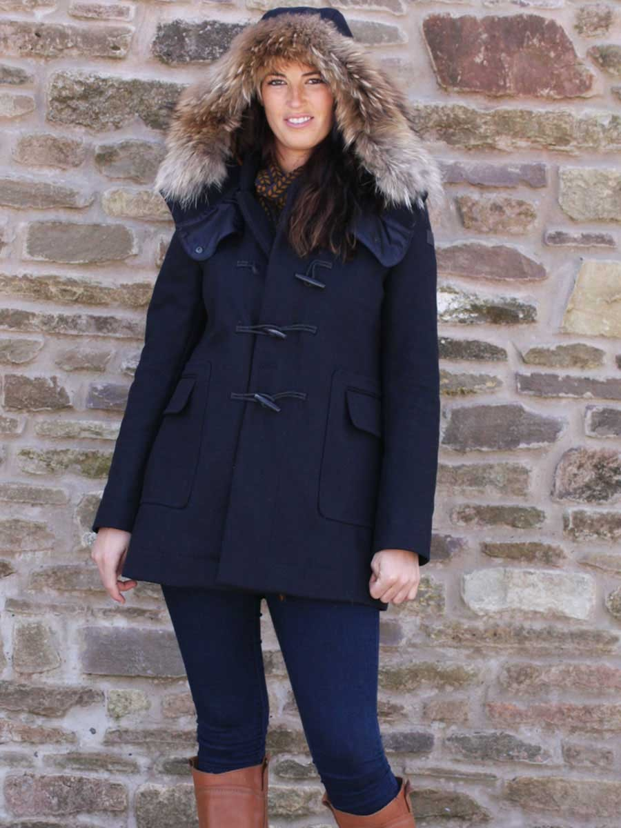 Aigle Ladies Duffleclan Duffle Coat - Dark Navy
