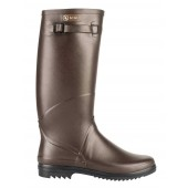 Aigle Chantebelle Slim Calf Welly Boot - Brown