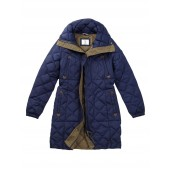 Aigle Emee Quilted Duck Down Coat - Marine