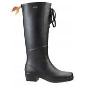 Miss Juliette Lace Up Welly Boot - Black