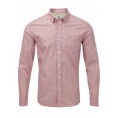 Wiseland St Men's Cotton Shirt - Cranberry Stripe - from Aigle