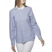 Women's Oxford Cotton Shirt - Ocean Stripe