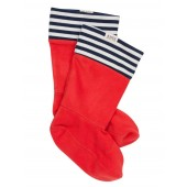 Aigle Sockywarm Short Boot Sock Striped Jersey - Rouge St