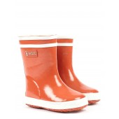 Aigle Baby Flac Fur Lined Kids Wellies - Orange