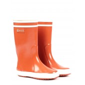 Aigle Kids Lolly Pop Fur Lined Welly Boot - Orange