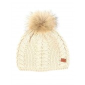Aigle Lukybeany Cable Knit Beanie - Ecru