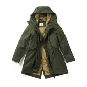 Aigle Brokfielder Long Fishtail Parka - Kaki