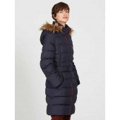 Aigle Rigdown Long Length Down Puffer Jacket - Dark Navy