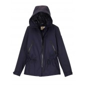 Aigle Retrostarre New Short Contemporary Fishtail Parka, New Navy