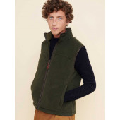 Aigle Sheppera Polartec 300 Fleece Gilet, Bronze (Dark Green)