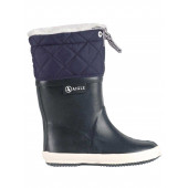 Aigle Kids Giboulee Welly Boot with Fur Lining, Marine